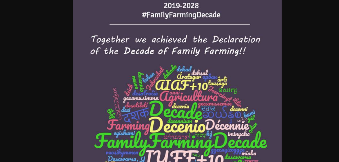 The Decade of Family Farming 2019-2028 Officially Adopted by the